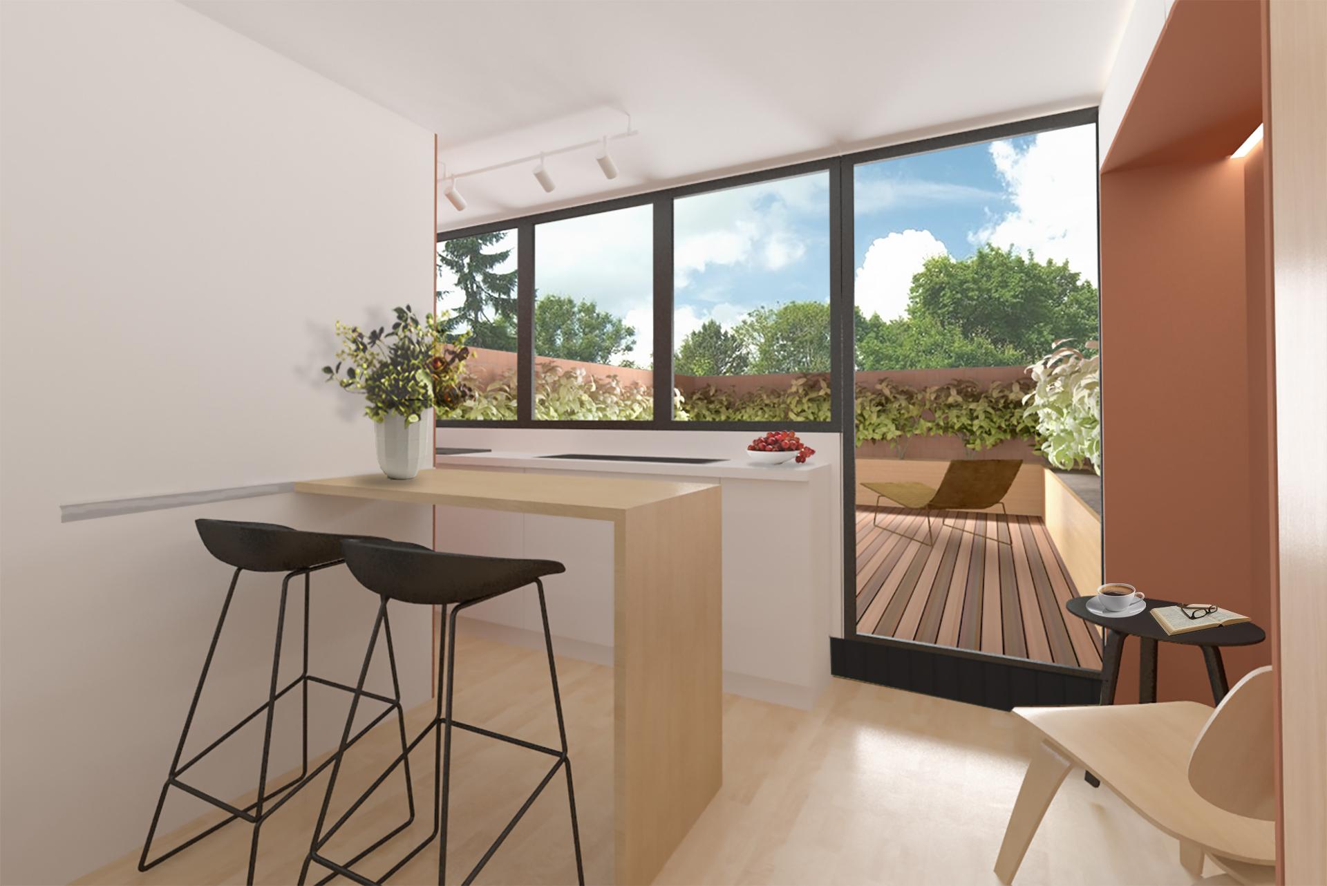 Mini Apartment Olha Martsynovska Interior Design